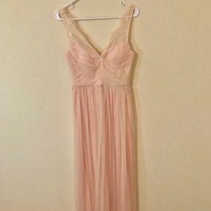 BHLDN Fleur Bridesmaids Dress in Blush
